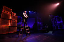Photograph from Side by Side by Sondheim - lighting design by Brendan Albrey