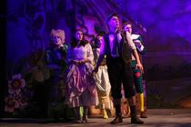 Photograph from Jack and the Beanstalk - lighting design by Dan Saggars