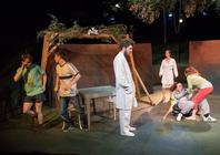 Photograph from Holes in the Skin - lighting design by JamesM