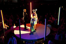 Photograph from Border Force - lighting design by Marty Langthorne
