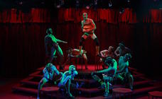 Photograph from Cabaret - lighting design by Brendan Albrey