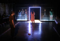 Photograph from Perfectly Ordinary - A New Musical - lighting design by Joseph Ed Thomas