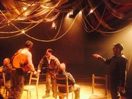 Photograph from The Burnt Part Boys - lighting design by Charlie Morgan Jones