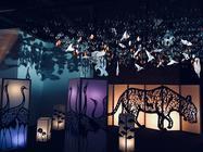 Photograph from Illuminight - lighting design by Azusa Ono