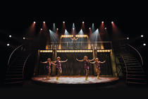 Photograph from Iedereen Beroemd, the musical - lighting design by Luc Peumans