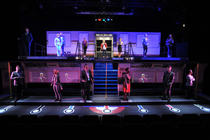 Photograph from Lift The Musical - lighting design by Sam Ohlsson