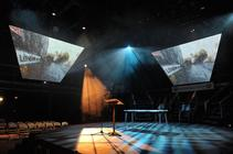 Photograph from London Road - lighting design by Paul Lennox