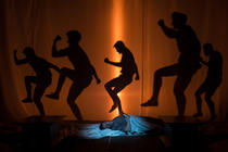 Photograph from Jason and the Argonauts - lighting design by Andrew Voller
