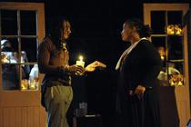 Photograph from La Boheme - lighting design by Chloe Kenward