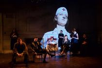Photograph from Love of the Nightingale - lighting design by Jamila