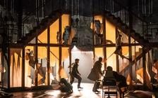 Photograph from My Brilliant Friend - lighting design by Malcolm Rippeth