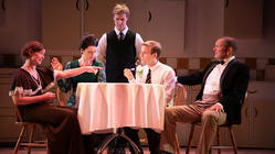 Photograph from Nigal Slater's Toast - lighting design by Chris May