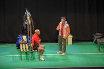 Photograph from Not a Game For Boys - lighting design by Chris May
