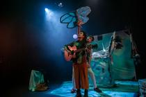 Photograph from Under the Frozen Moon - lighting design by Claire Childs