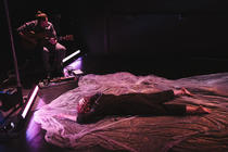 Photograph from Obvious Unrest - lighting design by Laura Hawkins