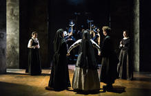 Photograph from Mary Stuart - lighting design by Joshua Gadsby