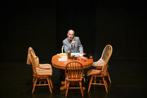 Photograph from Benefactors - lighting design by Chris May