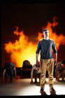 Photograph from Pink Mist - lighting design by Peter Harrison