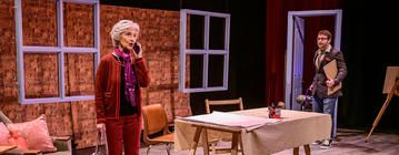 Photograph from I Shall Wear Purple - lighting design by James McFetridge