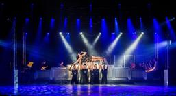 Photograph from Hollywood Rocks - lighting design by Archer