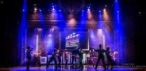 Photograph from Broadway Rocks - lighting design by Archer