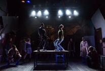 Photograph from Rent - lighting design by Max Blackman
