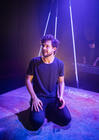 Photograph from Run The Beast Down - lighting design by Robbie Butler