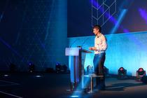 Photograph from Cyber Battle 2018 - lighting design by Callum MacDonald