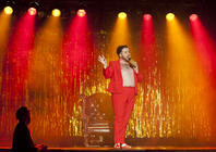 Photograph from Hamburger Queen - lighting design by Marty Langthorne