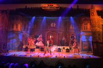Photograph from Dick Whittington Rock & Roll Panto 2018 - lighting design by Jason Salvin