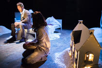 Photograph from Snow - lighting design by Ben Pickersgill