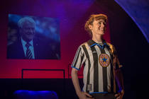 Photograph from Bobby Robson Saved My Life - lighting design by Johnathan Rainsforth