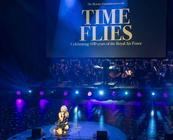 Photograph from Time Flies RAF100 Royal Gala - lighting design by Matthew Clutterham
