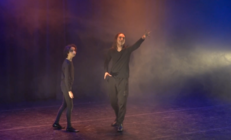 Photograph from Dr Faustus (Scripted A-Level performance) - lighting design by edfrearson