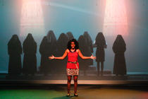 Photograph from Sister Act - lighting design by Wally Eastland