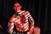 Photograph from SQUIRM - lighting design by Jess Bernberg