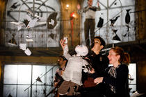Photograph from The Tin Drum - lighting design by Malcolm Rippeth