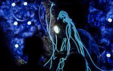 Photograph from An Alien Encounter - lighting design by Charlie Morgan Jones