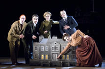Photograph from The Doubtful Guest - lighting design by Peter Harrison