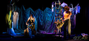 Photograph from The Selfish Giant - lighting design by Robbie Butler