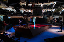 Photograph from There Is A Light That Never Goes Out - lighting design by Joshua Gadsby