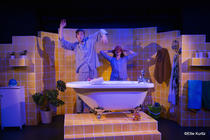 Photograph from The Flying Bath - lighting design by Sherry Coenen