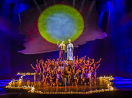 Photograph from Prince of Egypt London - lighting design by Liam Sayer
