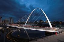 Photograph from Naked City:- Spencer Tunick in Newcastle Gateshead - lighting design by mikelefevre