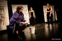 Photograph from Women of Aktion - lighting design by Sherry Coenen