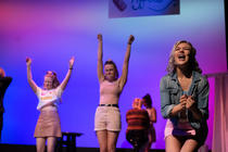 Photograph from Legally Blonde the Musical - lighting design by nathanbillis