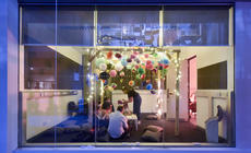 Photograph from Party Skills for the End of the World - lighting design by Marty Langthorne