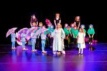 Photograph from Alice in Wonderland Junior - lighting design by EllieBookham
