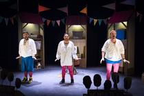 Photograph from The Complete Works of William Shakespeare (abridged) - lighting design by James McFetridge