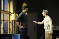 Photograph from Disgraced - lighting design by Christopher Withers